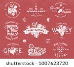wine logos  labels set. winery  ... | Shutterstock .eps vector #1007623720