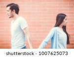 portrait of couple asian young... | Shutterstock . vector #1007625073