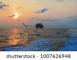 offshore construction platform... | Shutterstock . vector #1007626948