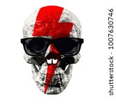 skull in sunglasses with a...   Shutterstock . vector #1007630746