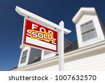 left facing sold for sale real... | Shutterstock . vector #1007632570