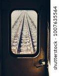 train track railroad journey... | Shutterstock . vector #1007635564