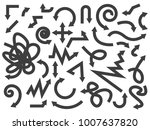 arrows of different directions | Shutterstock .eps vector #1007637820