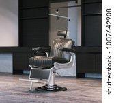 modern barbershop interior with ... | Shutterstock . vector #1007642908