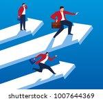 three businessmen flying on... | Shutterstock .eps vector #1007644369