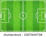 top view of empty soccer... | Shutterstock . vector #1007644738