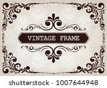 vintage frame with beautiful...   Shutterstock .eps vector #1007644948