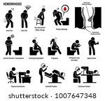 hemorrhoids and piles icons.... | Shutterstock . vector #1007647348