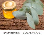 eucalyptus leaves and oil ... | Shutterstock . vector #1007649778