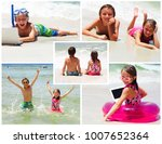 collage of photos with children ... | Shutterstock . vector #1007652364