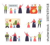 family characters showing... | Shutterstock .eps vector #1007655418