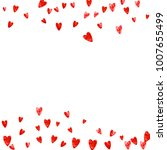 valentines day heart with red... | Shutterstock .eps vector #1007655499