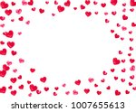 heart border for valentines day ... | Shutterstock .eps vector #1007655613