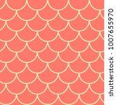 Mermaid Scale Seamless Pattern. ...