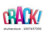 crack  isolated vector... | Shutterstock .eps vector #1007657350