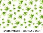 marijuana leaves seamless... | Shutterstock .eps vector #1007659150