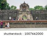 jan 21 2018 tourists walking...   Shutterstock . vector #1007662000