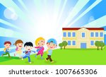 group of children back to school | Shutterstock .eps vector #1007665306
