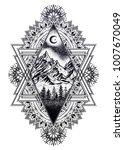 decorative ornate vintage frame ...   Shutterstock .eps vector #1007670049