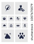 set of 12 pets icons set.... | Shutterstock .eps vector #1007670079