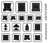 different kinds of fireplaces... | Shutterstock .eps vector #1007673589