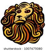 lion head mane icon    Shutterstock .eps vector #1007675080