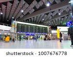 frankfurt international airport ...   Shutterstock . vector #1007676778