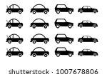 car icon graphic black... | Shutterstock . vector #1007678806