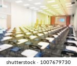 blurred image of empty large... | Shutterstock . vector #1007679730