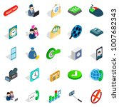 society icons set. isometric... | Shutterstock . vector #1007682343