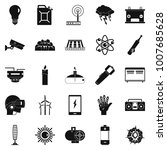 petrol icons set. simple set of ... | Shutterstock . vector #1007685628