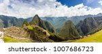 panoramic view of the incan... | Shutterstock . vector #1007686723