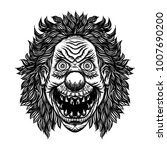 scary cartoon clown... | Shutterstock .eps vector #1007690200