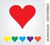 heart icon set vector... | Shutterstock .eps vector #1007690863