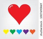 heart icon set vector... | Shutterstock .eps vector #1007690869