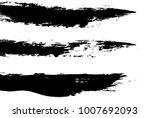 black and white brush strokes | Shutterstock . vector #1007692093
