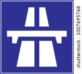 motorway sign vector | Shutterstock .eps vector #1007695768