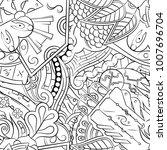 seamless mehndi vector pattern. ... | Shutterstock .eps vector #1007696704