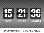 flip countdown. vector round... | Shutterstock .eps vector #1007697829