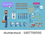 big set for animating business... | Shutterstock .eps vector #1007700550