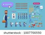 big set for animating business...   Shutterstock .eps vector #1007700550