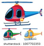 helicopters in three designs... | Shutterstock .eps vector #1007702353