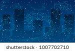 vector illustration. blizzard...   Shutterstock .eps vector #1007702710
