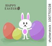 happy easter spring festival... | Shutterstock .eps vector #1007703238