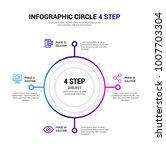 4 step infographic   Shutterstock .eps vector #1007703304