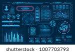 futuristic virtual graphic user ...