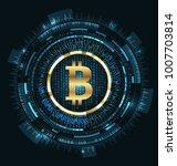 bitcoin with hud elements. bit...   Shutterstock . vector #1007703814