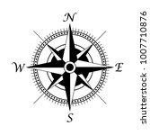 retro style compass icon  wind... | Shutterstock .eps vector #1007710876