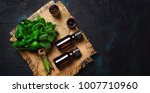 essential oil of peppermint in... | Shutterstock . vector #1007710960