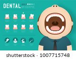 dental infographic of man adult ... | Shutterstock .eps vector #1007715748